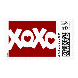 Hugs & Kisses Love & Hearts Postage