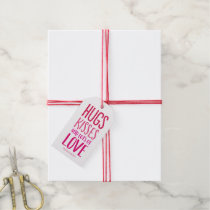 Hugs Kisses Love Valentines Day Gift Tags