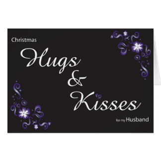 hugs&kisses para mi marido tarjetas