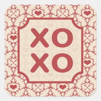 Hugs & Kisses Square Sticker
