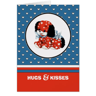 Hugs & Kisses. Valentine's Day Custom Cards