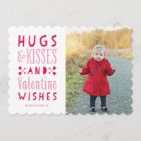 Hugs & Kisses| Valentine's Day Photo Card