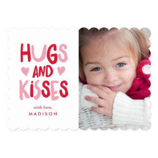 Hugs & Kisses | Valentine's Day Photo Card