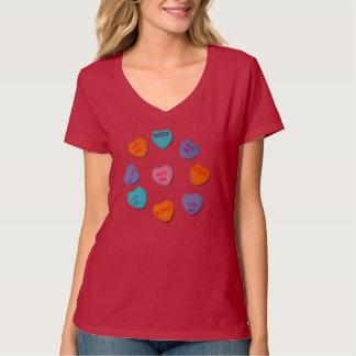 Hugs & Kisses, Women's Nano V-Neck T-Shirt, Red T-Shirt