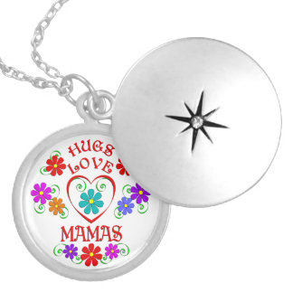 Hugs Love Mamas Silver Plated Necklace