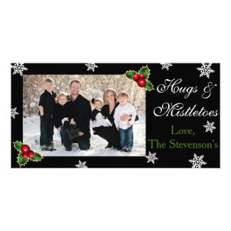 Hugs & Mistletoes Christmas Card