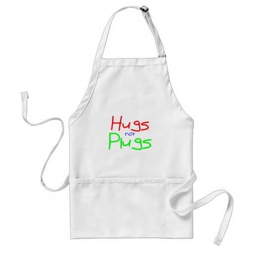 Hugs not Plugs (Red) Adult Apron