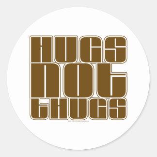 Hugs Not Thugs Stickers