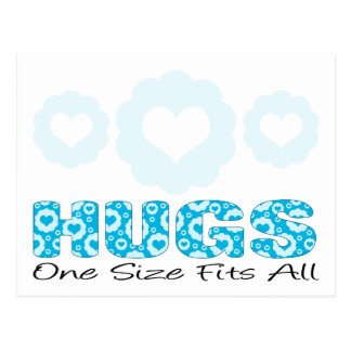Hugs One Size Fits All Postcard
