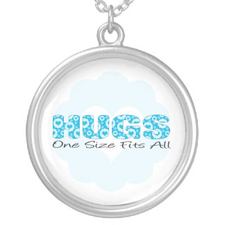 Hugs One Size Fits All Round Pendant Necklace