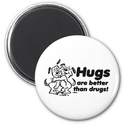 Hugs or Drugs? Refrigerator Magnets