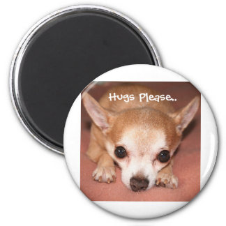 Hugs Please.. 2 Inch Round Magnet