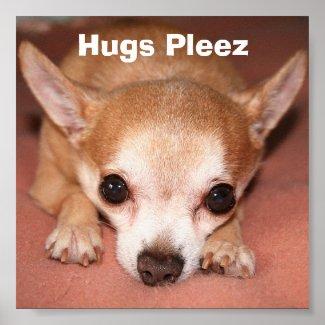 Hugs Pleez Print