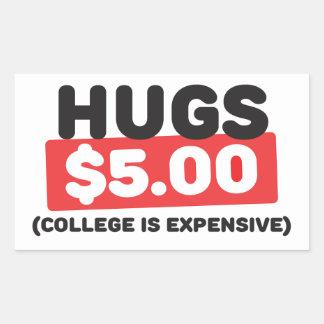 Hugs Rectangular Sticker