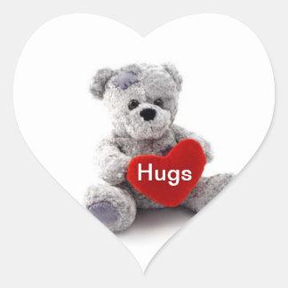 Hugs Teddy Bear Sticker