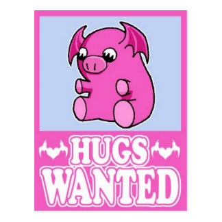 Hugs Wanted Post Cards