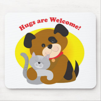 Hugs Welcome Mouse Pad
