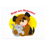 Hugs Welcome Post Card