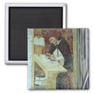 Hugues de Provence at his Desk, from the Cycle of 2 Inch Square Magnet