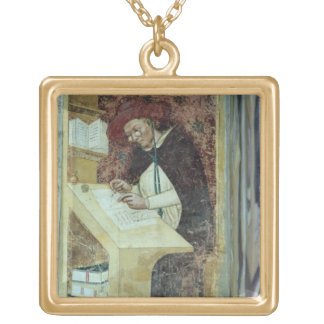 Hugues de Provence at his Desk, from the Cycle of Square Pendant Necklace