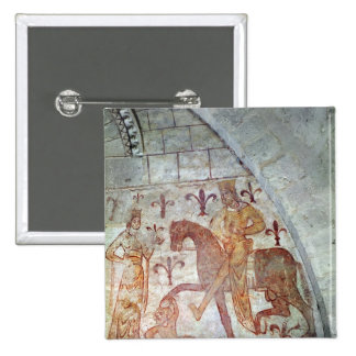 Hugues IX Lusignan 2 Inch Square Button