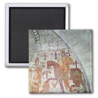 Hugues IX Lusignan 2 Inch Square Magnet