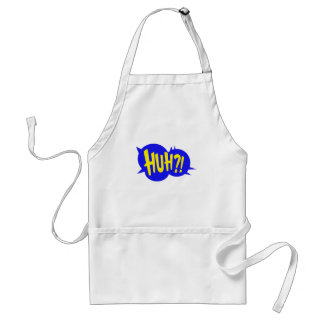 HUH! COMIC BOOK SPEECH BUBBLE ADULT APRON
