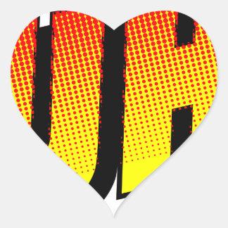 Huh? Heart Sticker