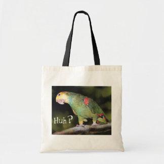 """Huh?"" Parrot bag"