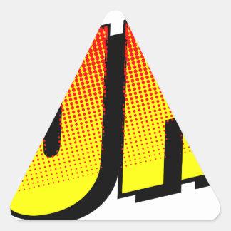 Huh? Triangle Sticker