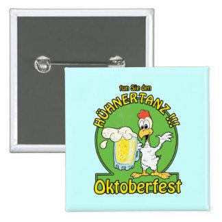 Huhnertanz Oktoberfest Pinback Buttons