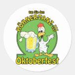 Huhnertanz Oktoberfest Classic Round Sticker