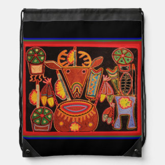 Huichol Drawstring Backpack