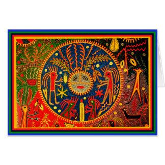 Huichol Fertility Ritual Card