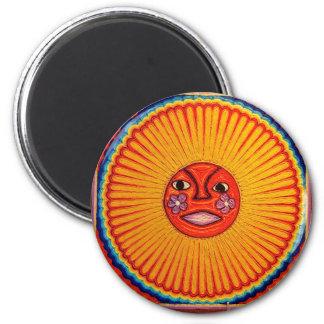 Huichol String Art Sun Mexican Folk Art Refrigerator Magnet