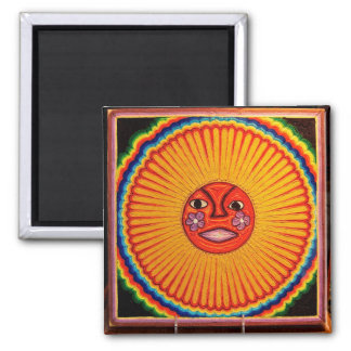 Huichol String Art Sun Mexican Folk Art Magnets