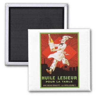Huile Lesieur Vintage Ad Magnet