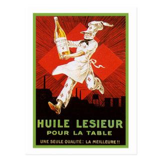 Huile Lesieur Vintage Ad Postcard