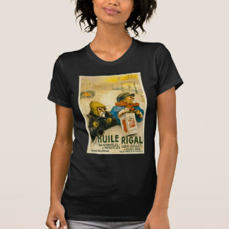 Huile Rigal - Vintage French Auto Ad T-shirt