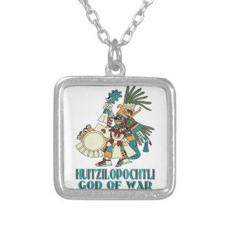 Huitzilopochtli Silver Plated Necklace