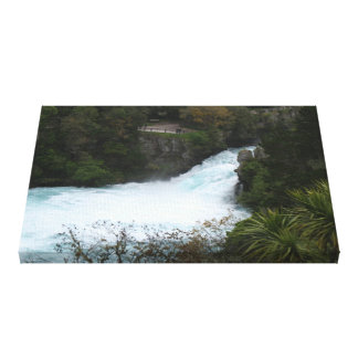 Huka Falls near Lake Taupo New Zealand Canvas Print