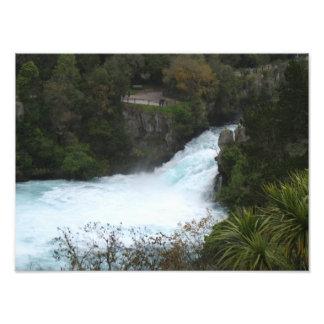 Huka Falls near Lake Taupo, New Zealand Photo Print