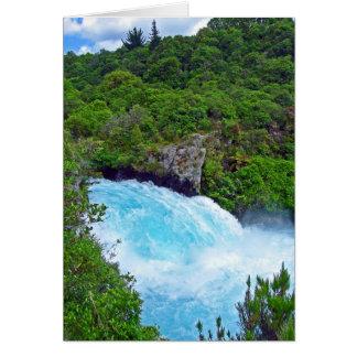 Huka Falls on the Waikato River, New Zealand Card