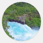 Huka Falls on the Waikato River, New Zealand Stickers