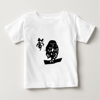hukurou dream OWL cutting picture calligraphy good Baby T-Shirt