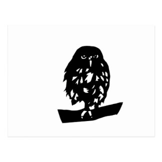 hukurou the wax OWL cutting picture luck opening Postcard