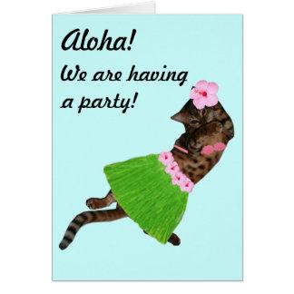 Hula Aloha Cat Cards