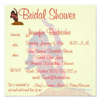 Hula Aloha Luau Bridal Shower Card