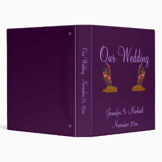 Hula Aloha Tropical Wedding Album 3 Ring Binder
