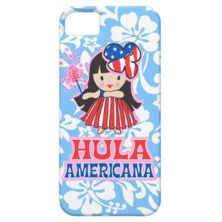 Hula Americana Hula Girl Patriotic iPhone 5 Case
